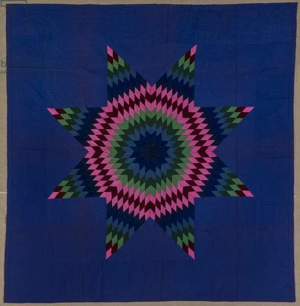 Star of Bethlehem Quilt, c.1940 (cotton & wool)