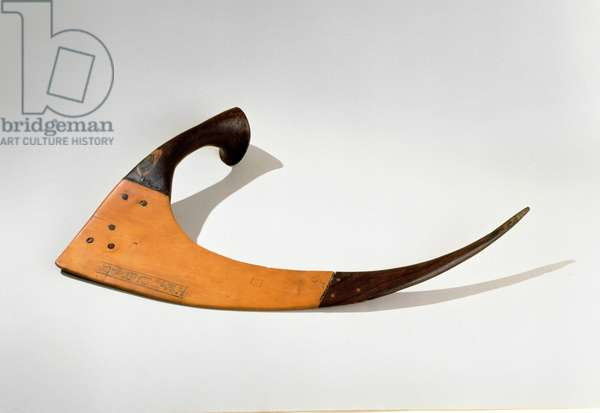 Ceremonial sickle of the 'Fieldworker of Amun' Amunemhat, New Kingdom, c.1479-1425 BC (wood)