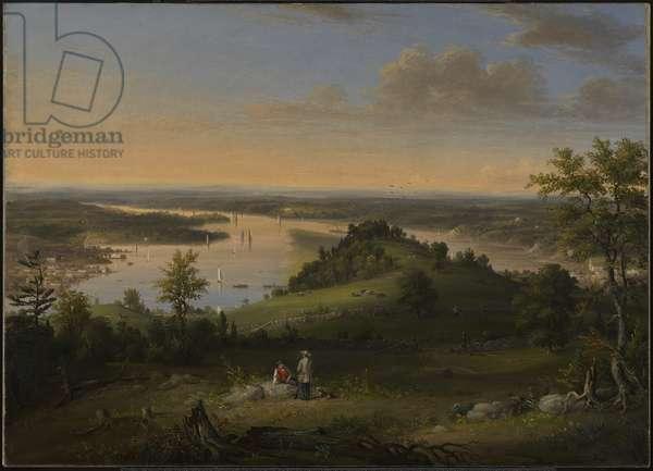 Scene on the Hudson River, 1849 (oil on canvas)