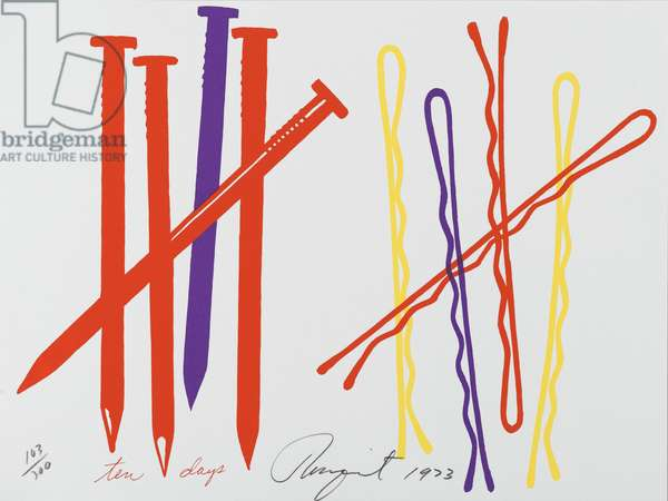 Ten Days, from a portfolio of 'Works by Artists in the New York Collection for Stockholm', 1973 (colour litho & silkscreen)