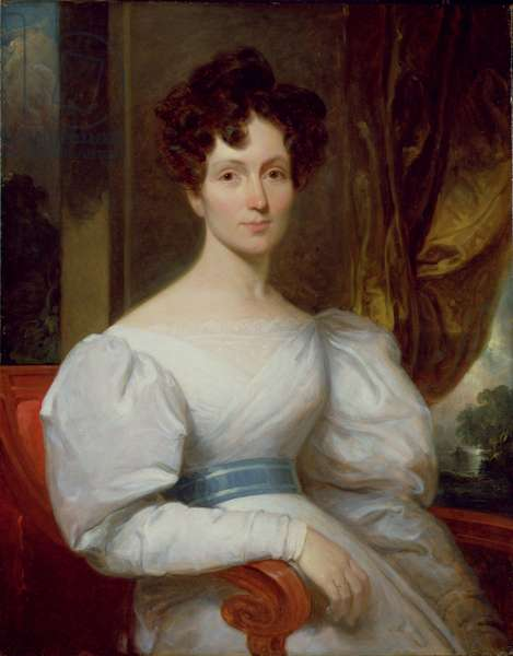 Portrait of Fanny Kemble Butler (1809-93) (oil on canvas)