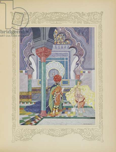 The fairy prince gave three enchanted cattails, illustration from 'Contes du Temps Jadis', or 'Tales from Times Past', p.86, 1912 (colour litho)