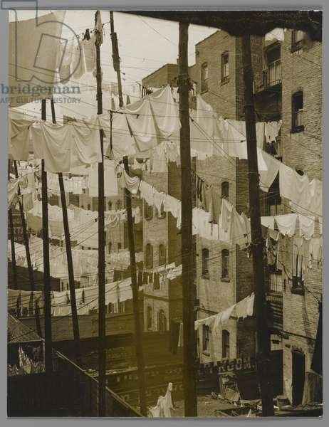 Untitled (Tenements, New York) mid-late 1930s (gelatin silver toned print)
