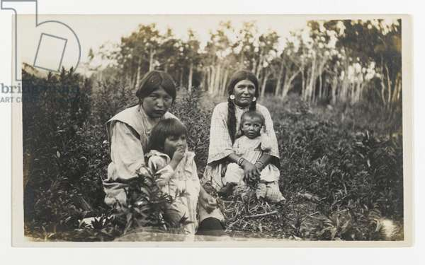 Untitled (Two Women with Children Sitting in a Field), c.1900 (gelatin silver print)
