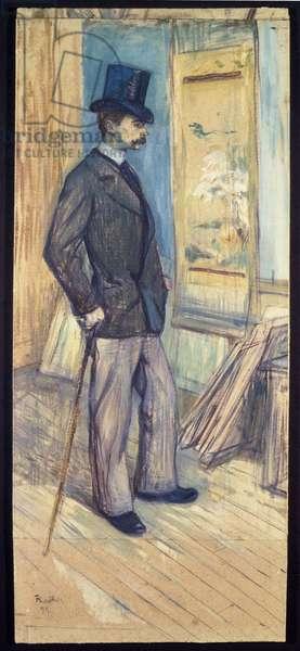 Portrait of M. Paul Sescau, 1891 (oil & gouache on cardboard)