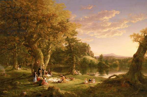 The Picnic, 1846 (oil on canvas)