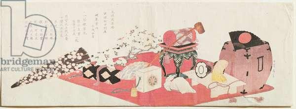 A Long Surimono (woodblock print)