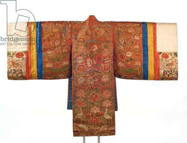 Bride's Robe (Hwalot), 19th century (embroidered silk panels, gold thread, paper lining)