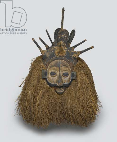 Nkhanda Mask, late 19th-early 20th century (wood, fiber and pigment)