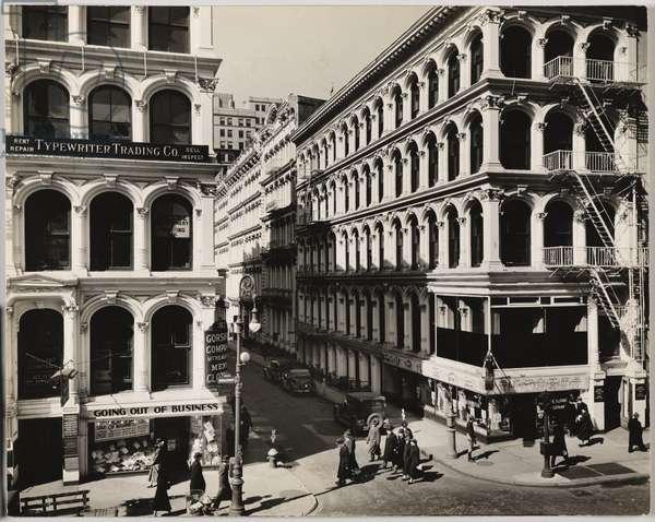 Broadway and Thomas Street, Manhattan, New York, USA, 1936 (gelatin silver photo)