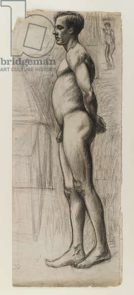 Male nude, c.1903-04 (graphite & charcoal on paper)
