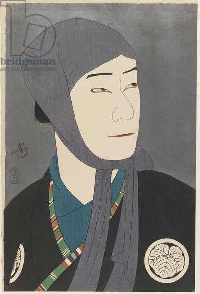 Yakamura Gansiro as Kamiya Jihei (colour woodblock print)