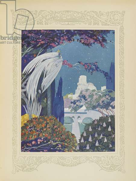 However the beautiful Bluebird never ceased to hover around the palace, illustration from 'Contes du Temps Jadis', or 'Tales from Times Past', p.32, 1912 (colour litho)