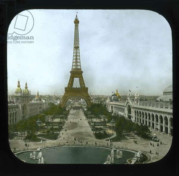 Paris Exposition: Champ de Mars and the Eiffel Tower, 1900 (lantern slide)