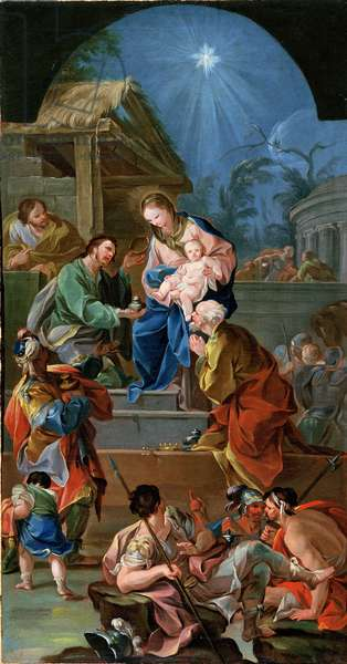 Adoration of the Magi, mid-18th century (oil on canvas) (see 200955)
