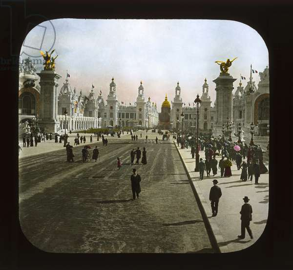 Paris Exposition: Esplanade des Invalides, Paris, 1900 (lantern slide)