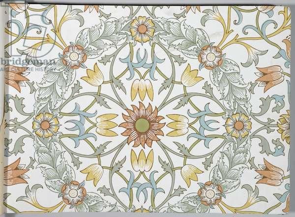 Wallpaper sample book, before 1917 (print)