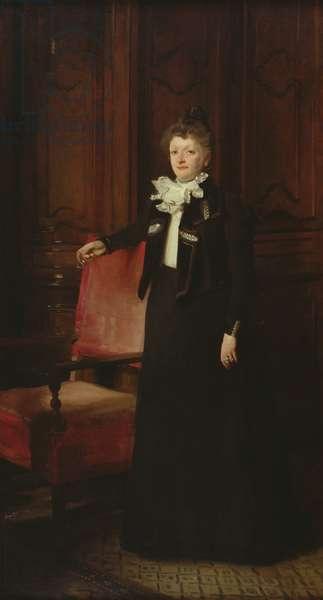Mrs Charles Huntington, 1898 (oil on canvas)