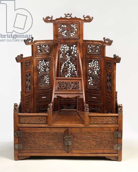 Mirror Cabinet and Cosmetic Chest, late 17th-early 18th century (rosewood (Huang hua li), metal)
