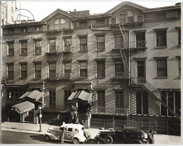 Lafayette Hotel, University Pl. & 9th Street, 1937 (gelatin silver photo)