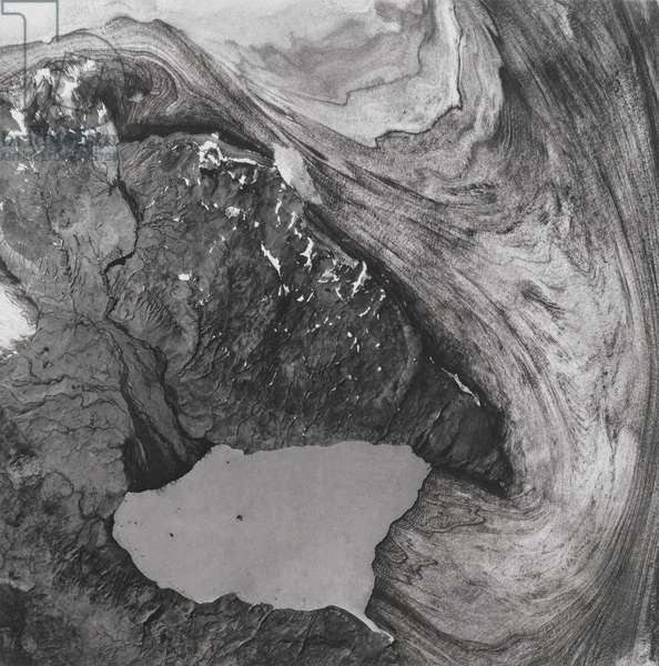 Untitled, from the suite entitled 'Cartographic Series', 2000 (black ink photogravure print)
