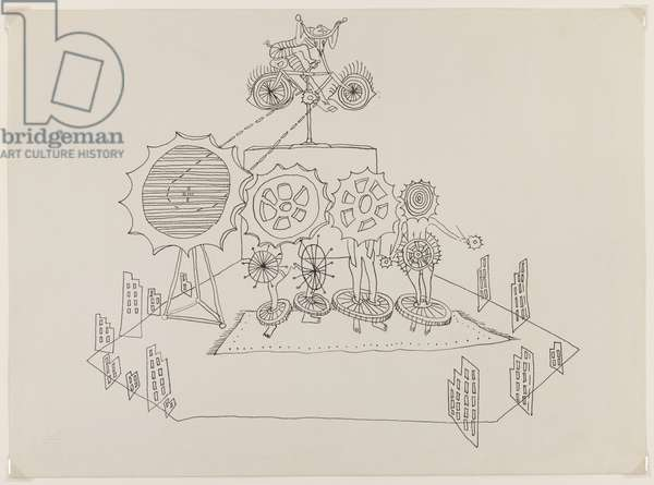 Setting for 'Santa Claus', by E. E. Cummings, 1947 (ink on paper)