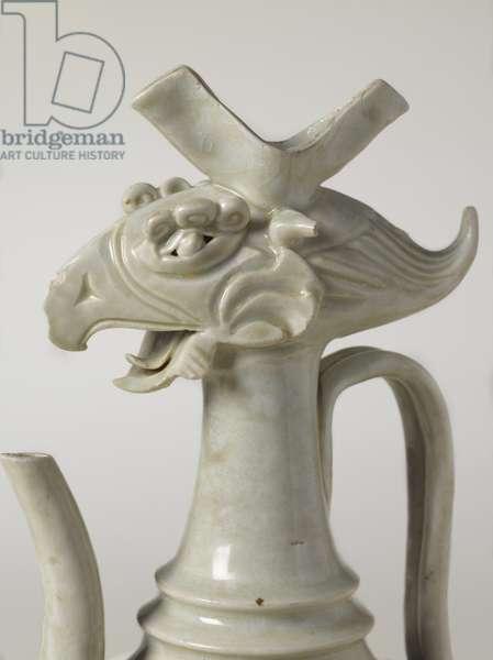 Ewer with Phoenix Head, c.10th century (Qingbai ware, stoneware, translucent glaze)