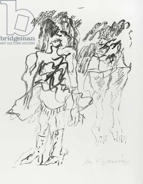 Two Figures, 1973 (offset litho)