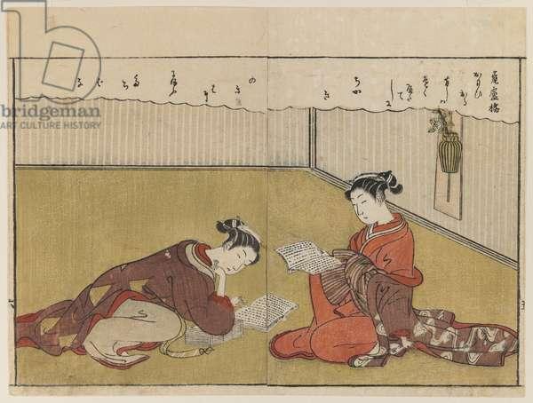 Page From Haru no Nishiki, 1771 (woodblock print)