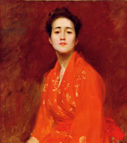 Study of Girl in Japanese Dress, 1895 (oil on canvas)