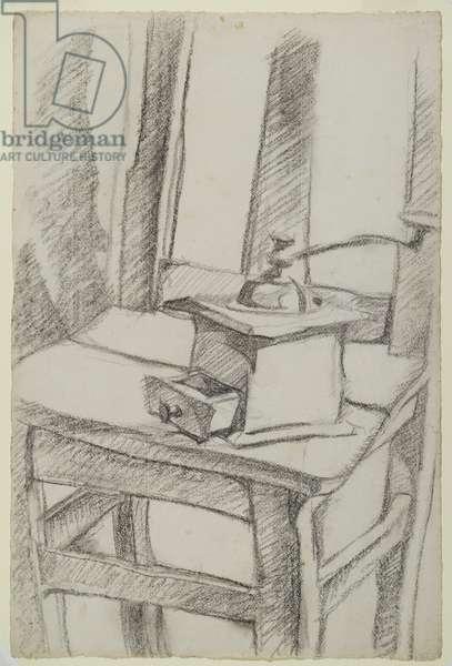 The Coffee Grinder (Le Moulin à Café), 1911 (charcoal on laid paper)