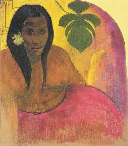 Tahitian Woman, c.1894 (charcoal & pastel on paper laid down on board)