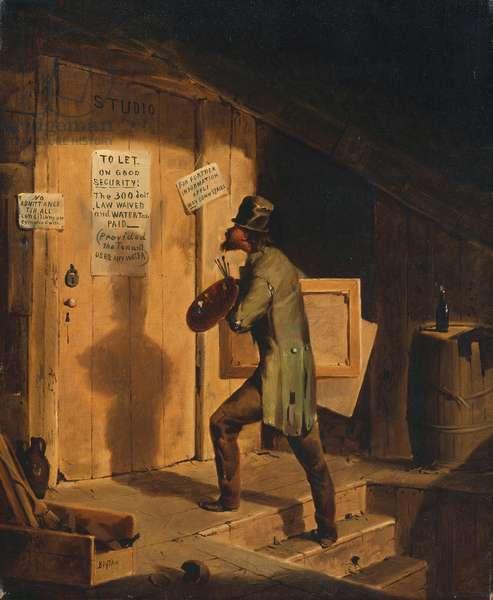 Art Versus Law (oil on canvas)