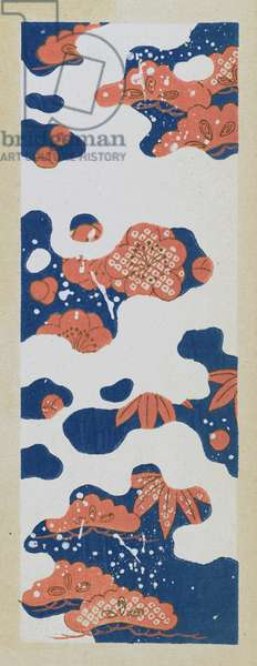 Print from 'Hana shishu' (Classical patterns for dyeing) 1934-1938 (woodblock print)