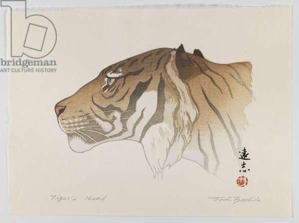 Tiger's Head, c.1950 (print)