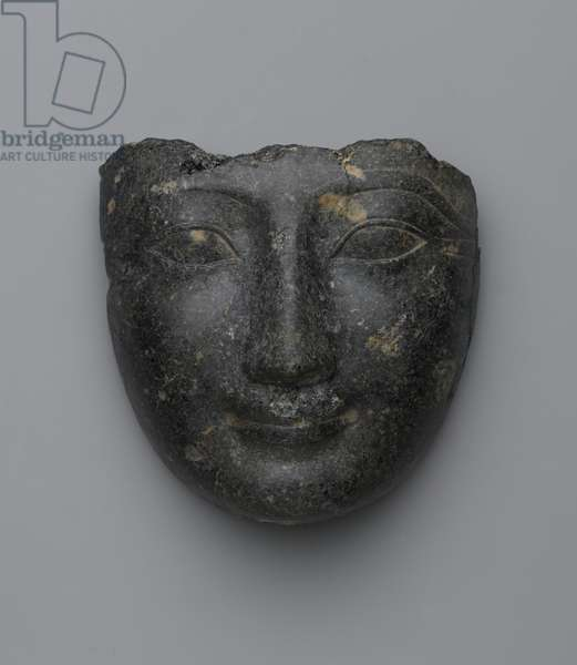 Face from a sarcophagus cover, purchased in Luxor, New Kingdom (granite)