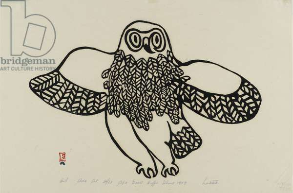 Owl, 1959 (ink print on paper)