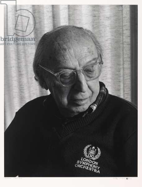 Aaron Copeland, 1983 (gelatin silver photo)