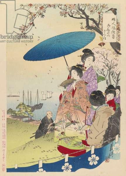 Geisha in Springtime, 1892 (woodblock print)