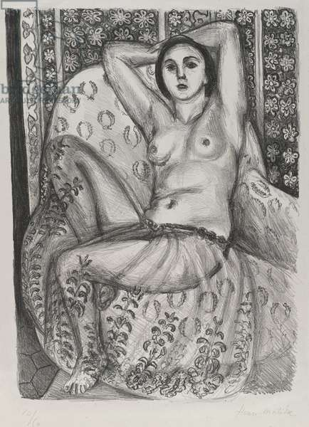 L'Odalisque, 1924 (litho on loose China paper)