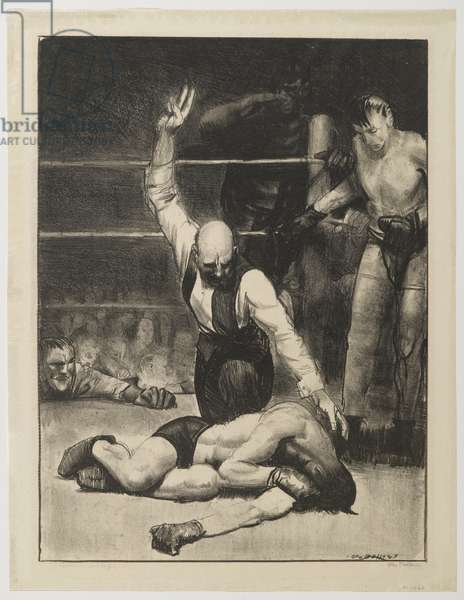 Counted Out No.2, 1921 (litho)