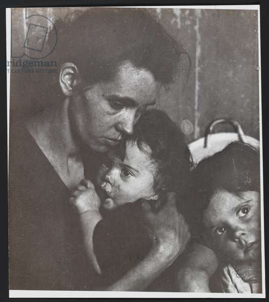 Untitled (Woman with two children) (gelatin silver print)