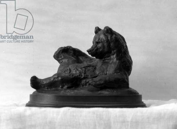 Seated Bear, modeled 1833 (bronze)