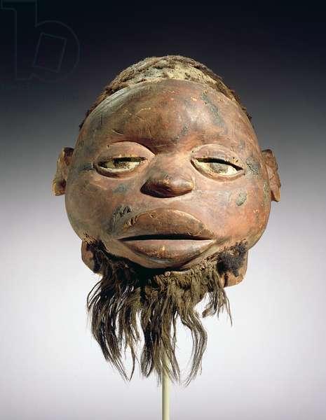 Lipiko Mask, Makonde Culture, Mozambique (wood, hair, fibre & pigment)