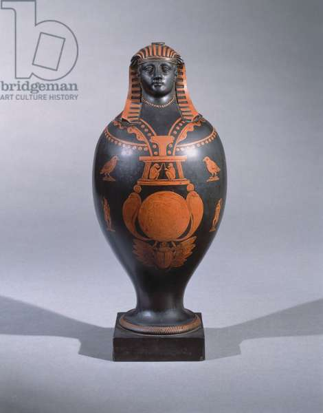 Canopic jar, from Staffordshire, c.1773 (encaustic earthware)