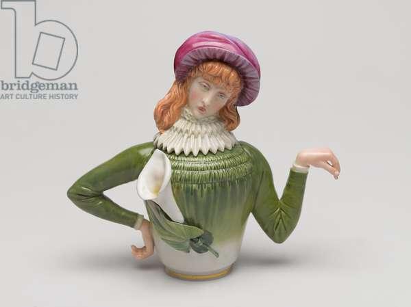 Teapot, patented December 21, manufactured c.1882 (porcelain)
