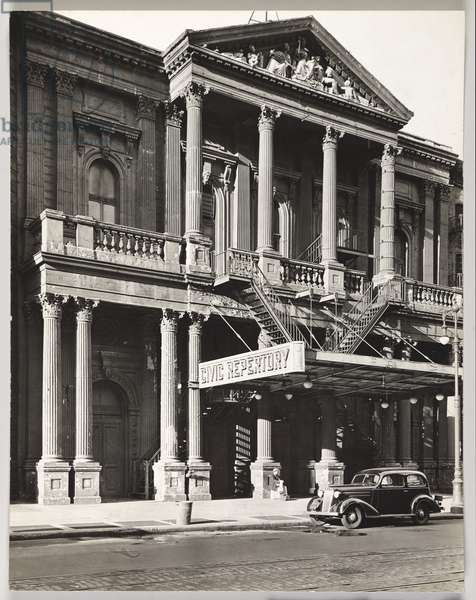 Civic Repetory Theater, 14th Street West of 6th Avenue, Manhattan, New York, USA, 1936 (gelatin silver photo)