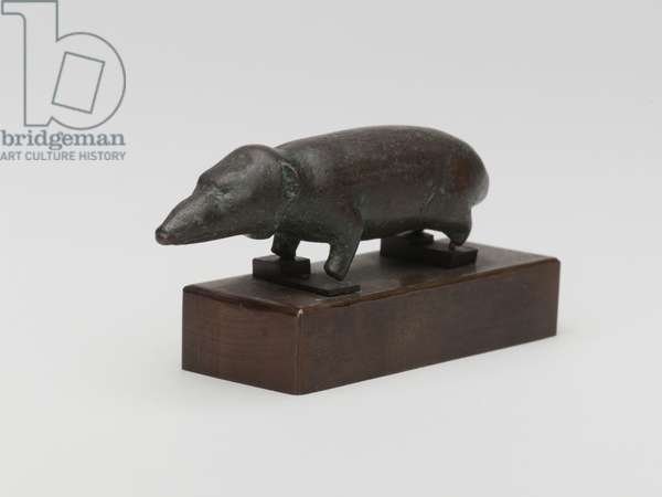 Small shrew-mouse from a coffin, Saqqara, Egypt (bronze)