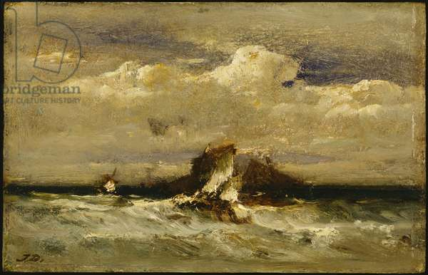 Seascape, c.1868-81 (oil on commercially cradled panel)