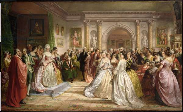 The Republican Court (Lady Washington's Reception) 1861 (oil on canvas)